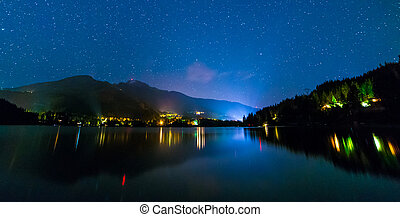 Alta Lake in Whistler at Night - Night shot of Alta Lake...