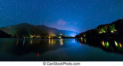 Alta Lake in Whistler at Night - Night shot of Alta Lake...