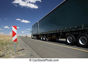 Cargo Truck or Lorry - Large horse and trailer truck...