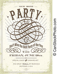 Vector Vintage Concert Poster Template - Easy to edit!...