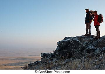 Hikers in the Peak