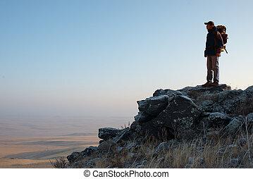 Hiker in the Peak