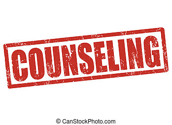 Counseling stamp - Counseling grunge rubber stamp on white,...