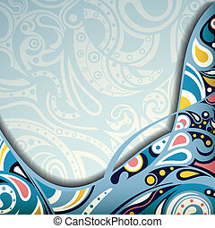 Abstract Blue Curve - Illustration of abstract curve design...