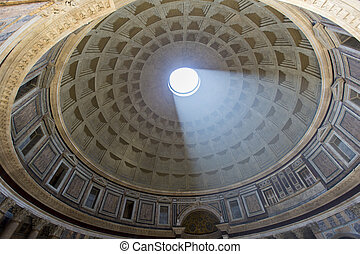 Pantheon in Rome, Italy at July 16, 2013. Pantheon was built...