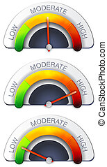 Performance Meter - Stock Image as JPG File