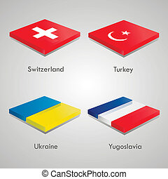 European country flags