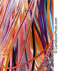 cable-tangle - cable in many colors hanging down