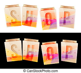Shop Banner Stock Image in JPG File