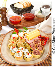 Appetizers - Diferrent types of bite size appetizers