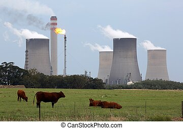 Power Industry and Farming Mix - Industrial power and fuel...