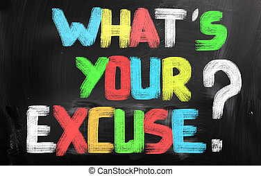 Whats Your Excuse Concept