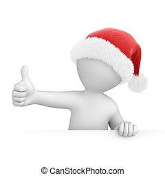 Santa with thumb up, image with a work path
