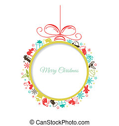 Christmas ball with space for text