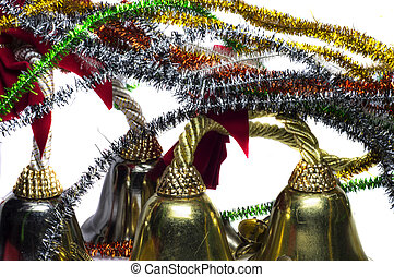 Decorated christmas bells - Four decorated christmas bells...
