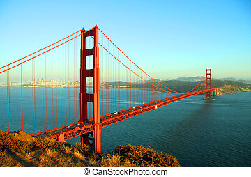 Golden Gate Perspective - golden gate bridge seen during the...