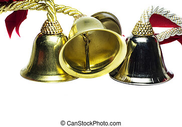 Four christmas shinny bells - Four christmas bells with...