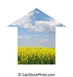 concept image of environment-friendly house