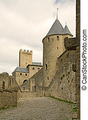 Carcassonne - A part of the medieval cite of Carcassonne in...