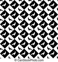 Design seamless monochrome diamond pattern with a silhouette...