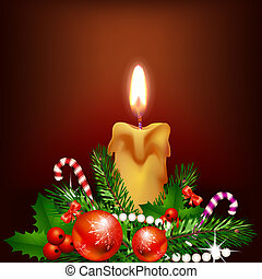 Christmas candle light
