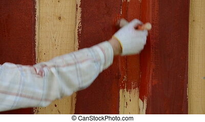 hand paint plank wall