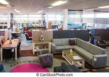 Showroom of modern furniture store - Big showroom of modern...
