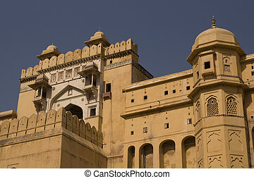 Amber Fort - Imposing entrance to Amber Fort. Large Rajput...