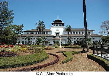gedung sate is one of many landmarak buildings in bandung,...