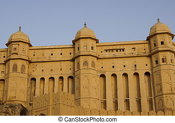 Amber Fort - Imposing walls of Amber Fort near Jaipur....