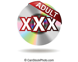 adult - Adult Label on compact disc Adult Rate