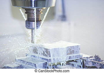 Milling Machine - Working on a part