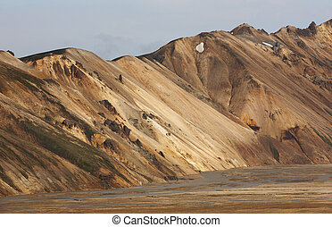 Volcanic landscape with rhyolite formations - Volcanic...