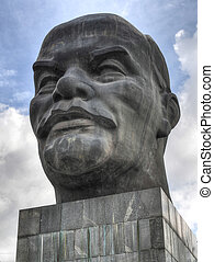 Monument to Ulyanov Lenin in Russia the city of Ulan-Ude The...