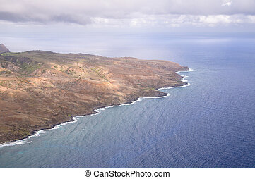Hawaiian Coastline - An aerial view of the Maui coastline...