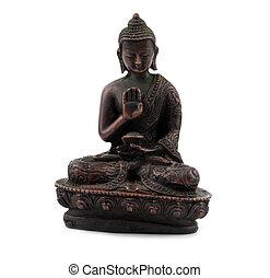 Buddha - a bronze statuette of Buddha