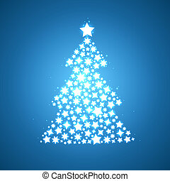 symbolic christmas tree shine glow stars