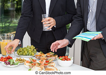Business party on the open air - Business party and the...
