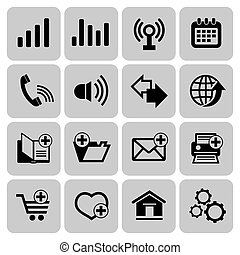 Web icons set - Set of internet web icons, vector...