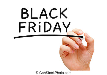 Black Friday - Hand writing Black Friday with black marker...