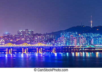 Seoul cityscape in South Korea