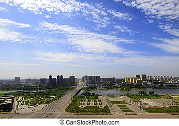 city building architecture in northern China