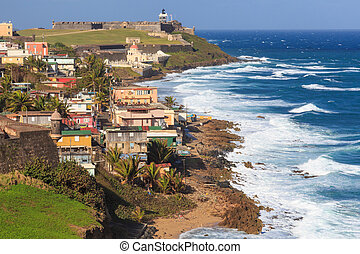 El Morro fort in San Juan, Puerto Rico - El Morro fort in...