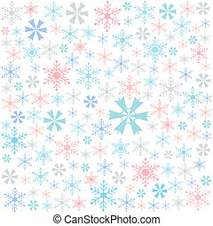 snowflake, merry christmas card