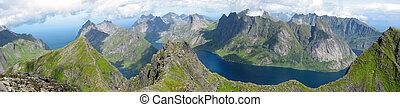 Landscape in the Lofoten islands (Norway)
