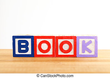 BOOK wooden toy block