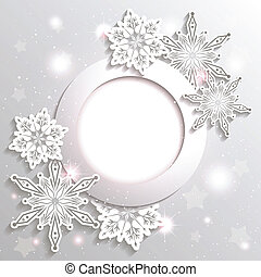 Sparkling Christmas Snowflake Star Background