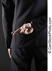Concept for dishonesty or fraud - Business man or politician...