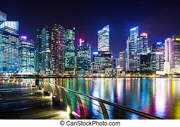 Urban cityscape in Singapore