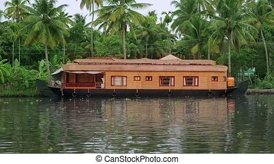 House boat in Kerala Backwaters - Traditional house boat...
